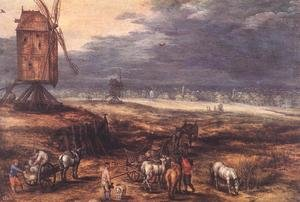 Landscape with Windmills c. 1607