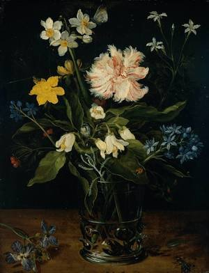 Mannerism painting reproductions: Still Life With Flowers In A Glass