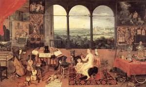 Mannerism painting reproductions: The Sense of Hearing 1618