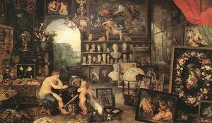 Mannerism painting reproductions: The Sense of Sight 1617