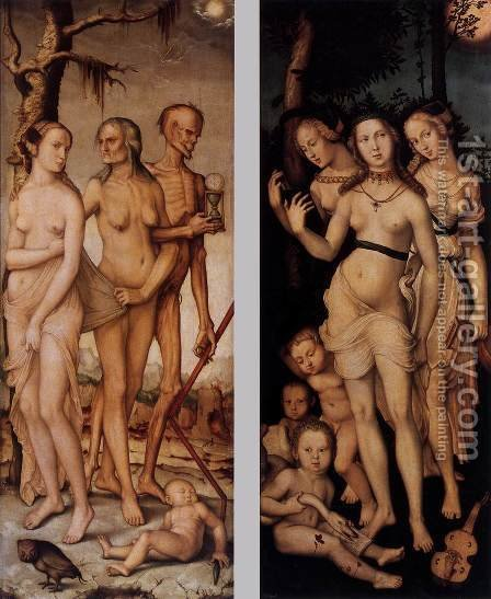 Three Ages Of Man And Three Graces 1539 by Hans Baldung  Grien - Reproduction Oil Painting