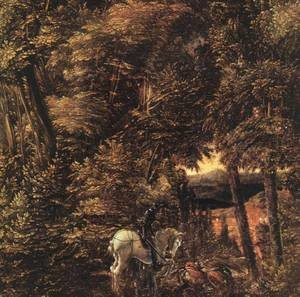 Mannerism painting reproductions: Saint George In The Forest