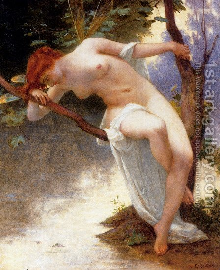 La Libellule by Guillaume Seignac - Reproduction Oil Painting