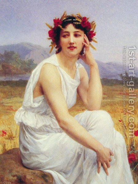 The Muse by Guillaume Seignac - Reproduction Oil Painting