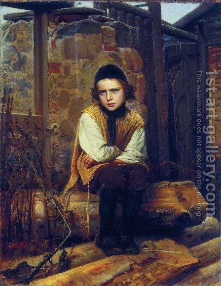 Insulted Jewish Boy by Ivan Nikolaevich Kramskoy - Reproduction Oil Painting