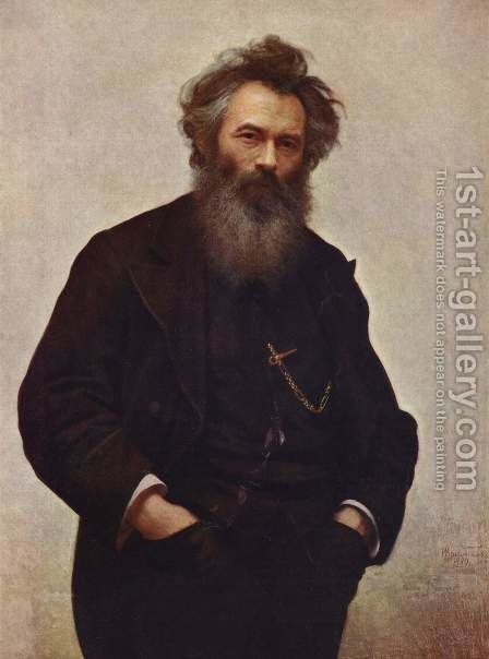 Portrait Of Ivan I. Shishkin 1880 by Ivan Nikolaevich Kramskoy - Reproduction Oil Painting