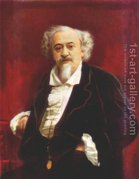 Portrait Of The Actor Vasily Samoilov by Ivan Nikolaevich Kramskoy - Reproduction Oil Painting