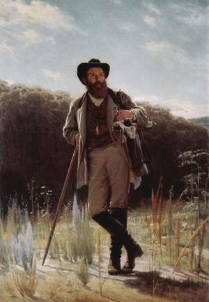 Realism painting reproductions: Portrait Of The Artist Ivan Shishkin