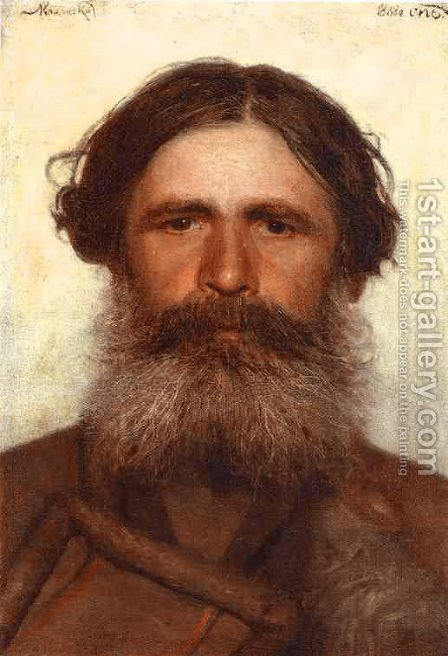 The Portrait Of A Peasant by Ivan Nikolaevich Kramskoy - Reproduction Oil Painting