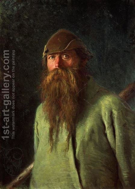 Woodsman by Ivan Nikolaevich Kramskoy - Reproduction Oil Painting