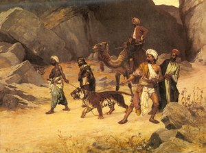 Famous paintings of Camels: The Tiger Hunt