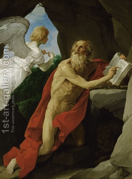 St Jerome c. 1635 by Guido Reni - Reproduction Oil Painting