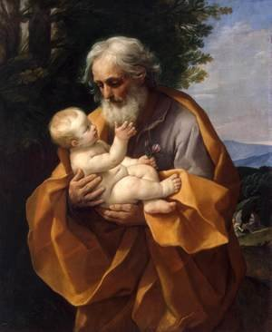 Famous paintings of Religion & Philosophy: St Joseph with the Infant Jesus c. 1635