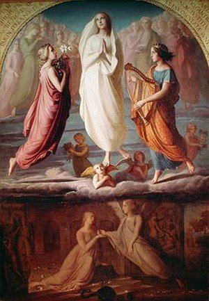 Reproduction oil paintings - Anne-Francois-Louis Janmot - L Assomption De La Vierge