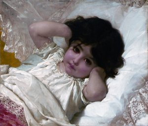 Famous paintings of Children: Portrait De Marie Louise