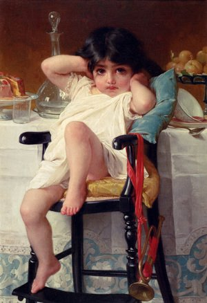 Famous paintings of Children: Sugar And Spice