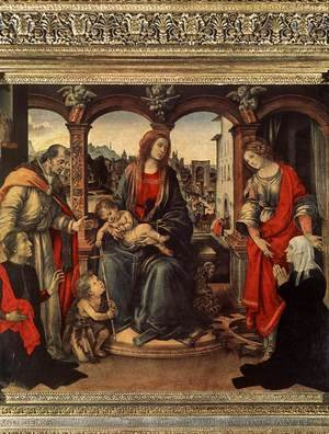 Renaissance - Early painting reproductions: Madonna With Child And Saints