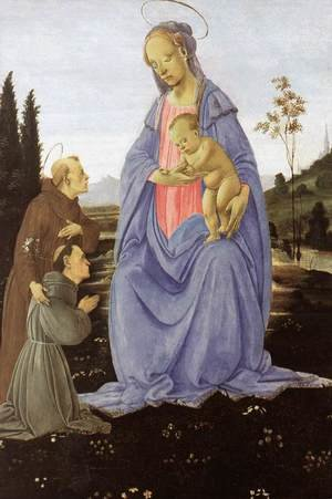 Renaissance - Early painting reproductions: Madonna with Child, St Anthony of Padua and a Friar before 1480