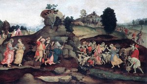 Renaissance - Early painting reproductions: Moses Brings Forth Water Out Of The Rock
