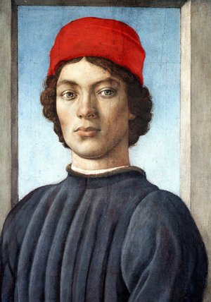 Renaissance - Early painting reproductions: Portrait of a Youth c. 1485