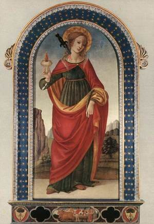 Renaissance - Early painting reproductions: St Lucy
