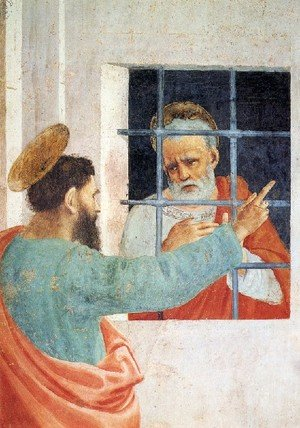 Renaissance - Early painting reproductions: St  Peter Visited In Jail By St  Paul