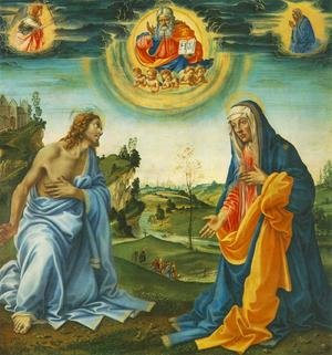 Renaissance - Early painting reproductions: The Intervention of Christ and Mary