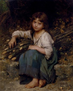 Famous paintings of Children: La Fille Du Bucheron