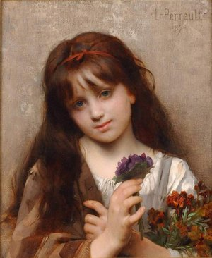 Famous paintings of Children: The Flower Vendor