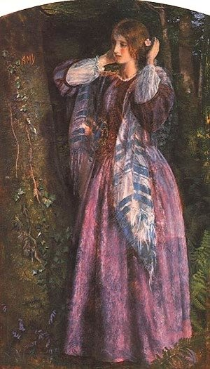 Reproduction oil paintings - Arthur Hughes - Amy (study)