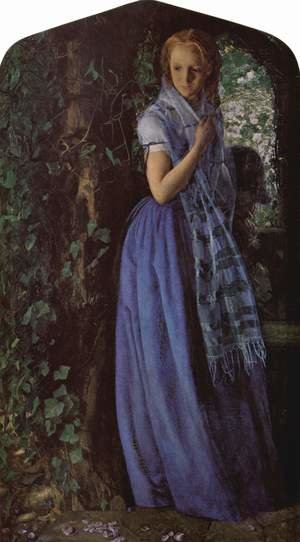 Pre-Raphaelites painting reproductions: April Love 1855-56