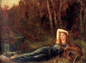 Reproduction oil paintings - Arthur Hughes - Endymion