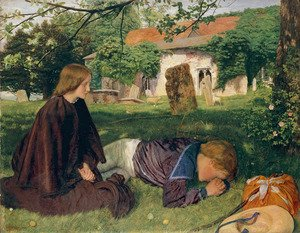 Reproduction oil paintings - Arthur Hughes - Home from Sea 1856-57