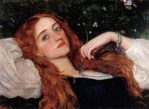 Reproduction oil paintings - Arthur Hughes - In the Grass 1864-65