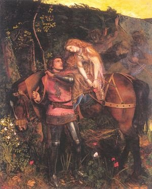 Reproduction oil paintings - Arthur Hughes - La Belle Dame Sans Merci 1861-63