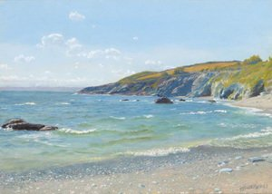 Reproduction oil paintings - Arthur Hughes - Perran Point  Cornwall