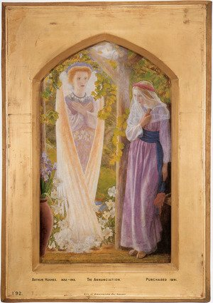 Reproduction oil paintings - Arthur Hughes - The Annunciation 1857-58