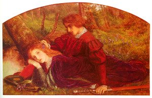 Reproduction oil paintings - Arthur Hughes - The Brave Geraint