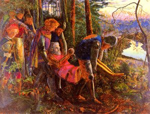 Reproduction oil paintings - Arthur Hughes - The Knight Of The Sun 1859-60