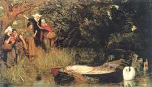 Reproduction oil paintings - Arthur Hughes - The Lady of Shalott 1872-73