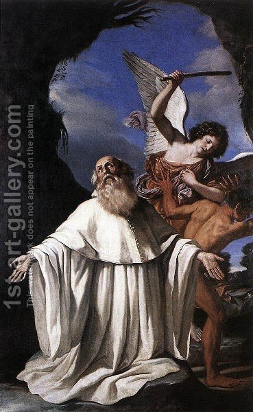 St Romuald 1640-41 by Giovanni Francesco Guercino (BARBIERI) - Reproduction Oil Painting