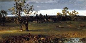 Reproduction oil paintings - John Frederick Kensett - At Pasture