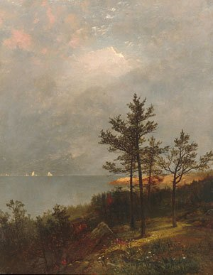 Reproduction oil paintings - John Frederick Kensett - Gathering Storm On Long Island Sound