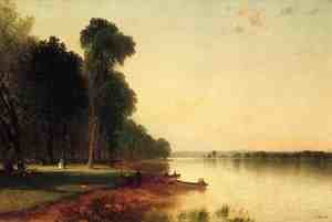 John Frederick Kensett reproductions - Summer Day On Conesus Lake