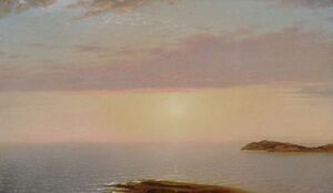Reproduction oil paintings - John Frederick Kensett - Sunset