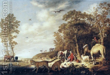 Orpheus With Animals In A Landscape by Aelbert Cuyp - Reproduction Oil Painting