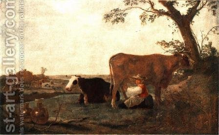 The Dairy Maid 1650s by Aelbert Cuyp - Reproduction Oil Painting