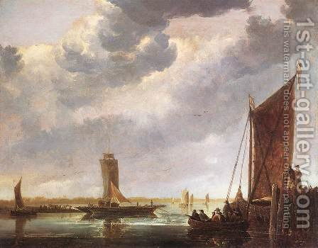 The Ferry Boat 1652-55 by Aelbert Cuyp - Reproduction Oil Painting