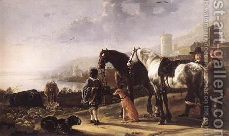The Negro Page, c. 1652 by Aelbert Cuyp - Reproduction Oil Painting