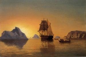 Famous paintings of Ships & Boats: An Arctic Scene